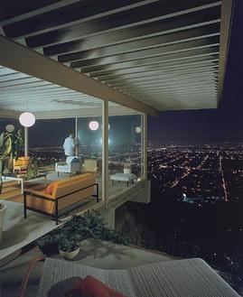 Pierre Koenig,Case Study House,高台,窓,リビング,プール